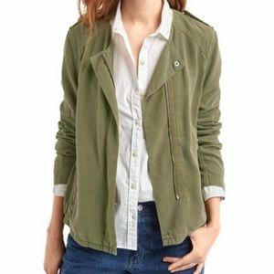 Gap Jacket Utility Side Zipper Army Green